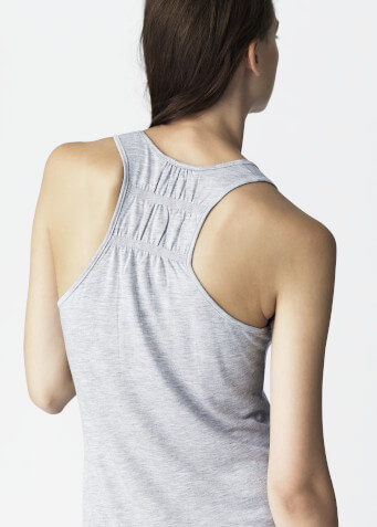 Naked Society - tanktop, grey melange