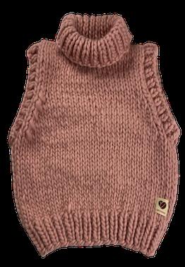 Vest mega knit, mocca