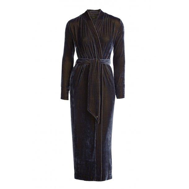 Silk velvet kimono long classic