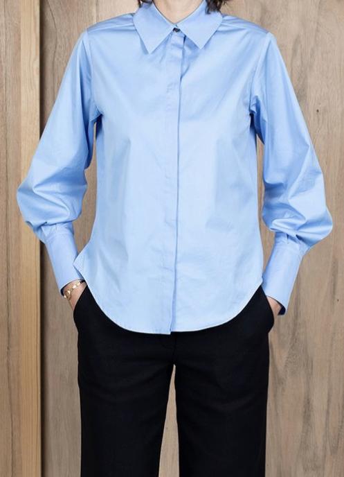 ASK X EMBLA Sigrid shirt light blue