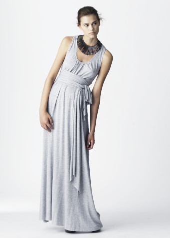 Naked Society, dress Florence, grey melange jersey