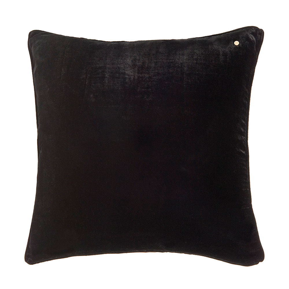 Silk velvet pillow, coal