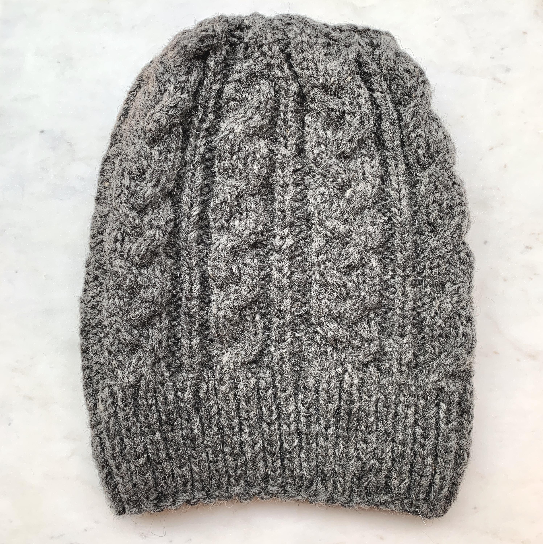 Monte home Beanie organic wool, grey