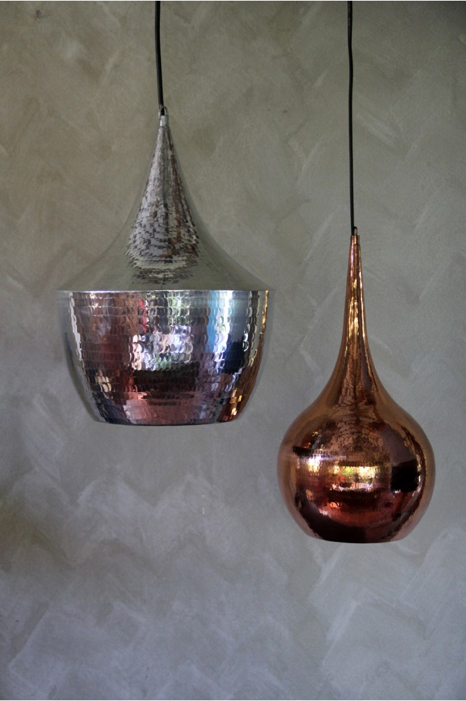 Nomad Living Teardrop copper lamp