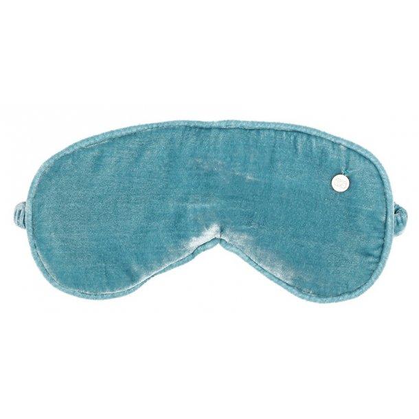 Silk velvet sleep mask, nordic blue