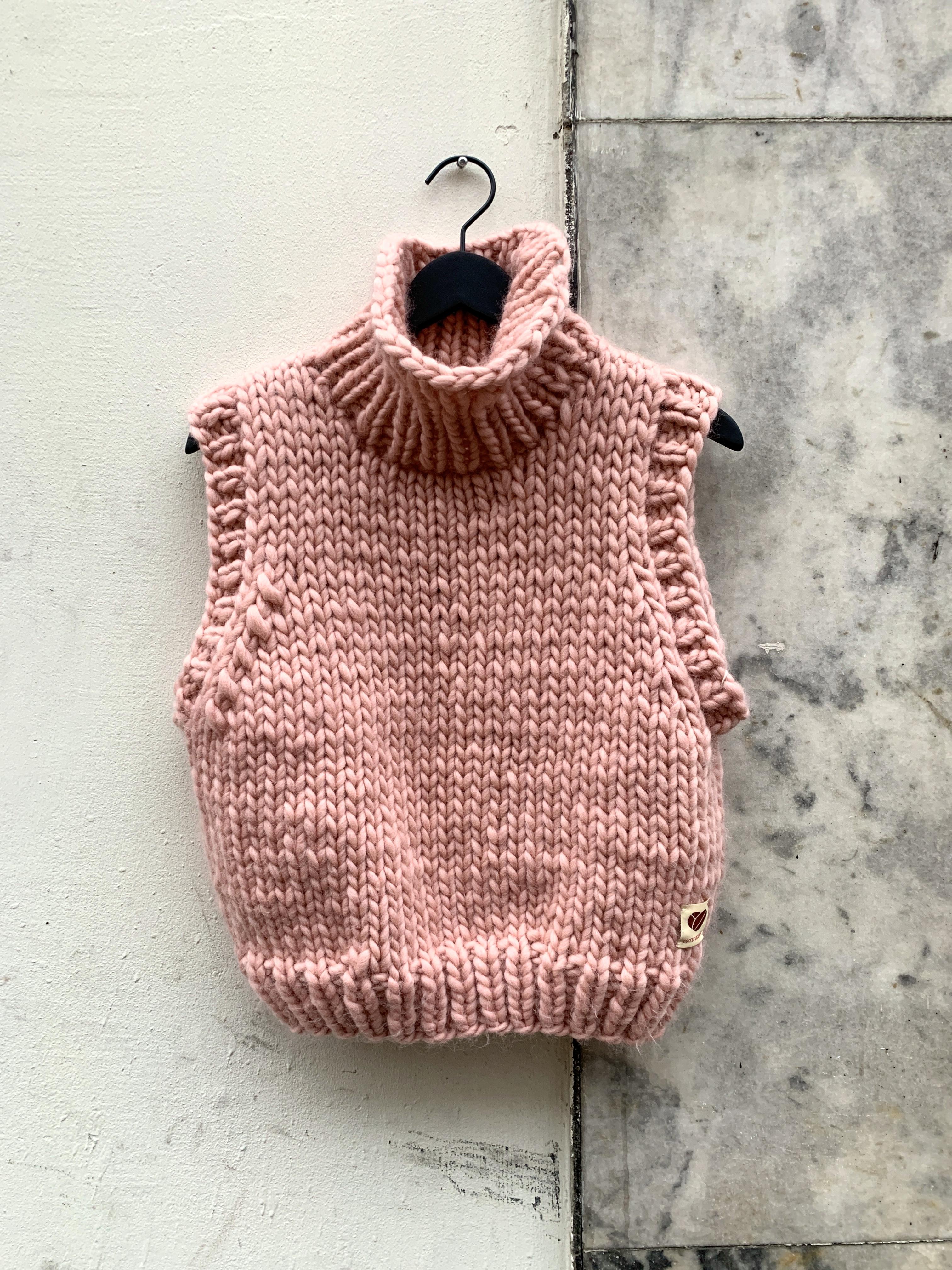 Vest mega knit, rose