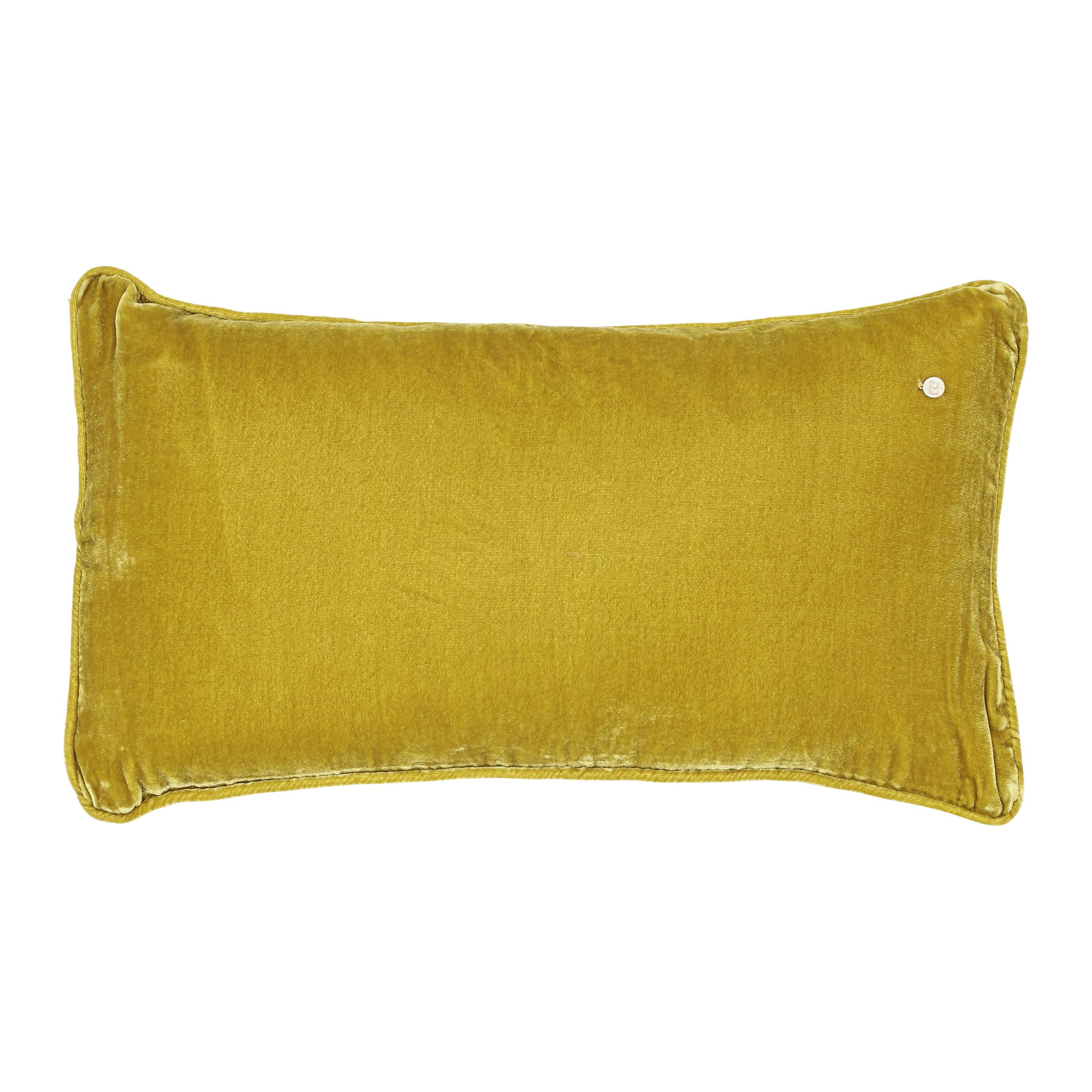 Silk velvet pillow, nougat / coal