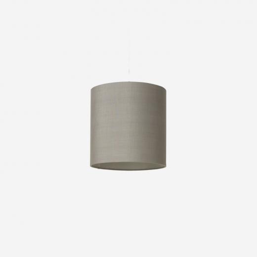 Raw silk shade/pendant, grey  30x30 cm