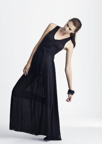Naked Society, maxi length dress, black, Florence