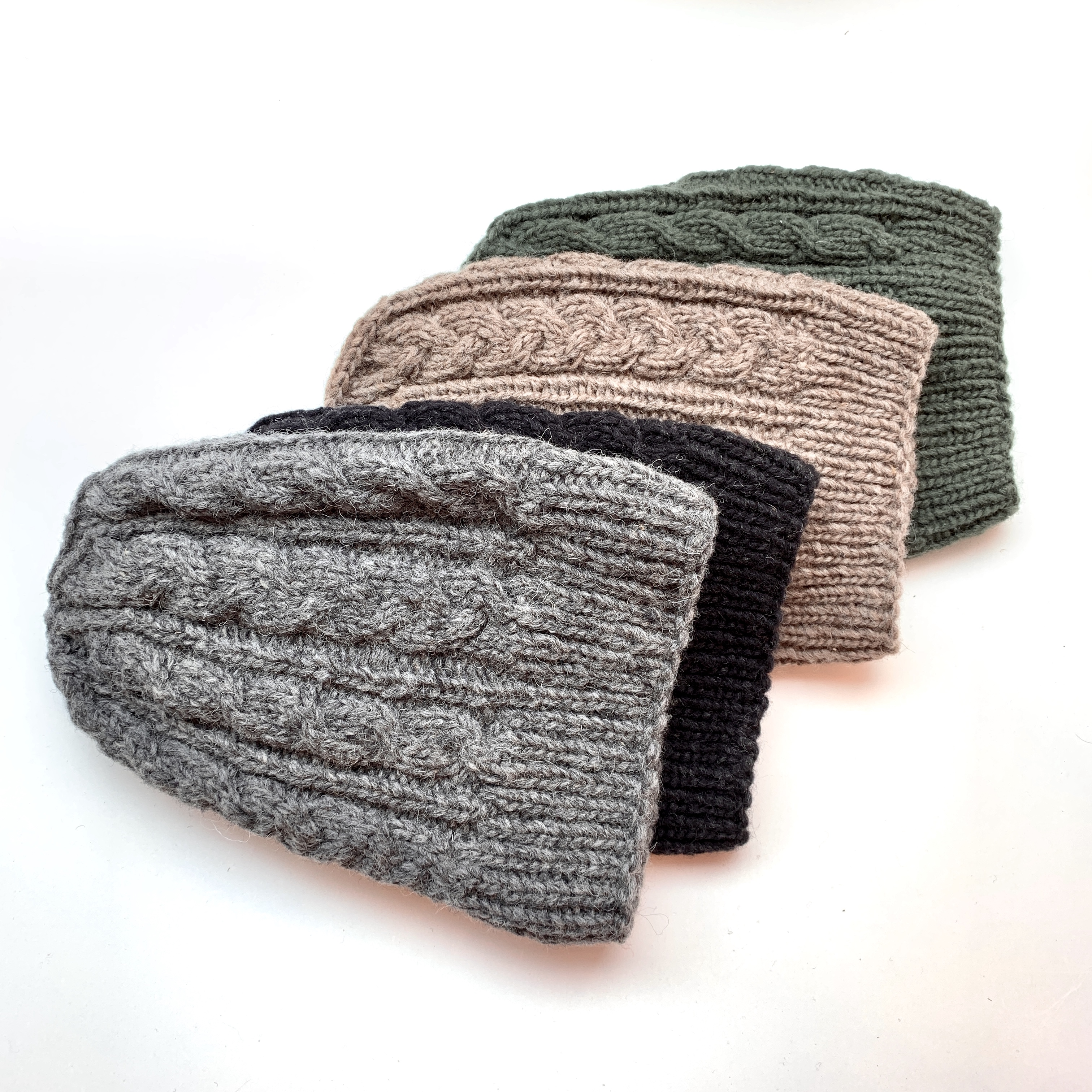 Beanie organic wool, black