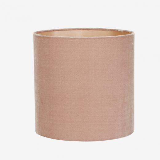 Silk velvet shade/pendant, rose 30x30 cm