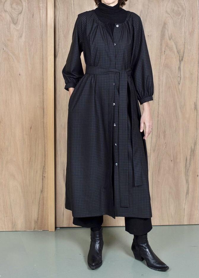 ASK X EMBLA Gudrun dress checked wool