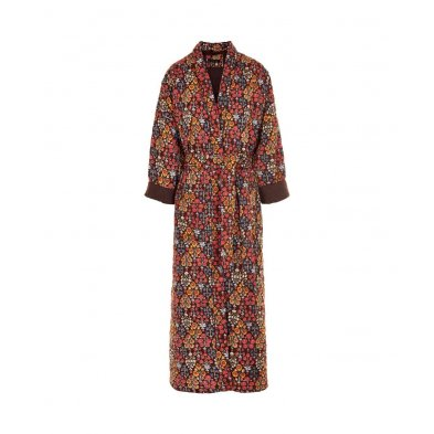 Quilted long kimono, simini brown Vibeke Scott