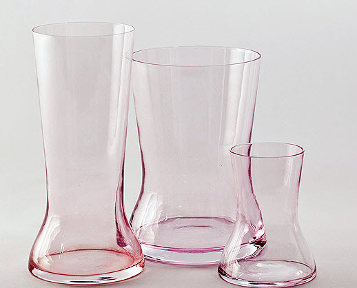 Modern glass vase in several colors, less Sia Mai