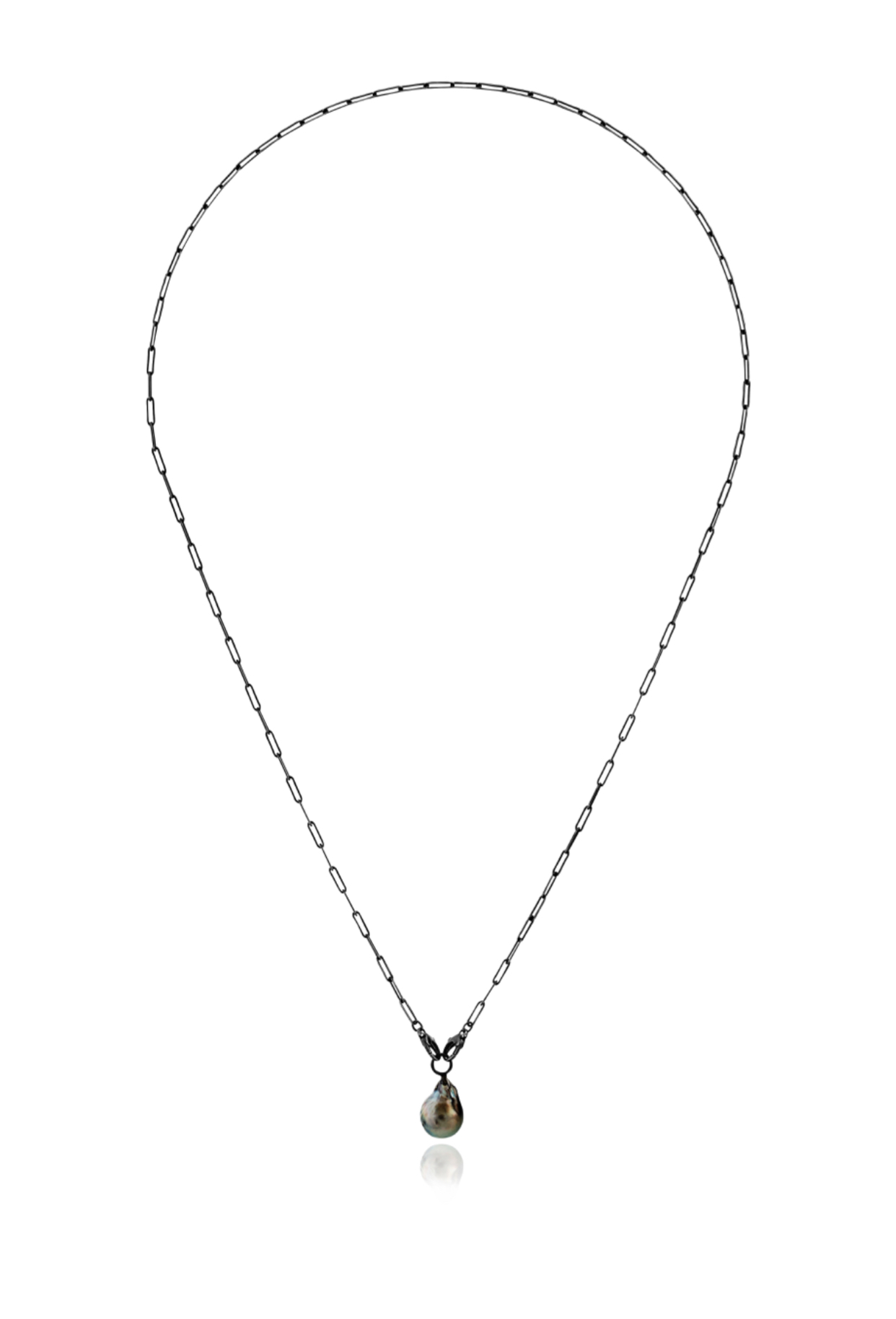 Ceres oxidized chain with grey pearl