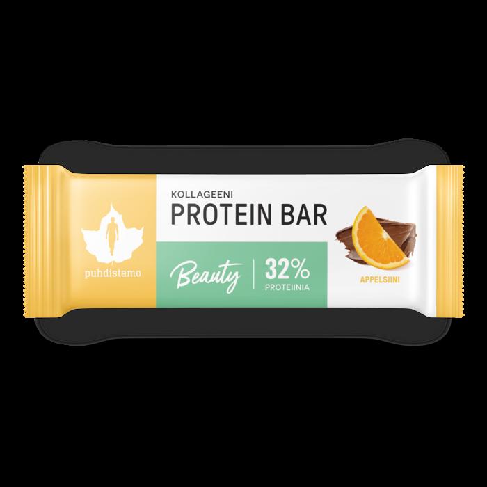 Kollageeni Beauty proteiinipatukka, Appelsiini 30 g, Puhdistamo