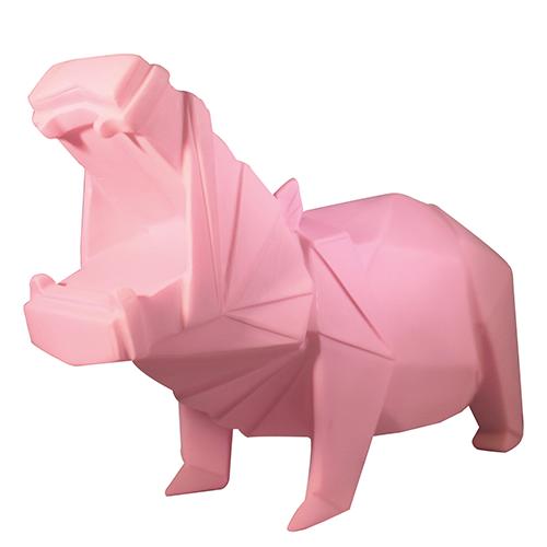 Origami lampa, rosa flodhäst