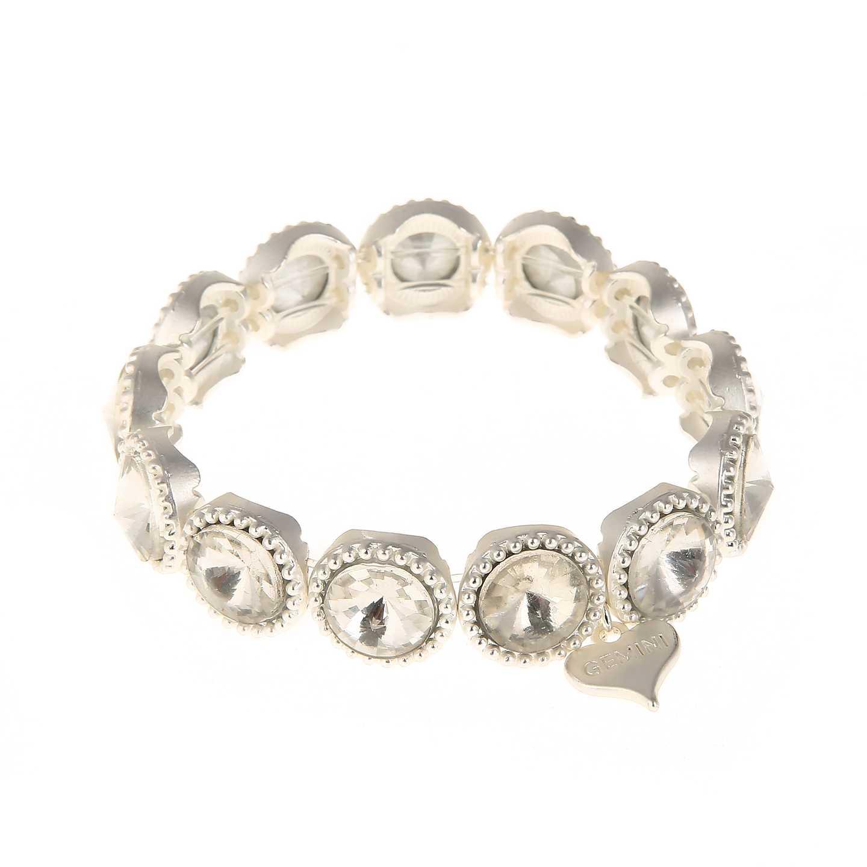 Armband silver med stenar