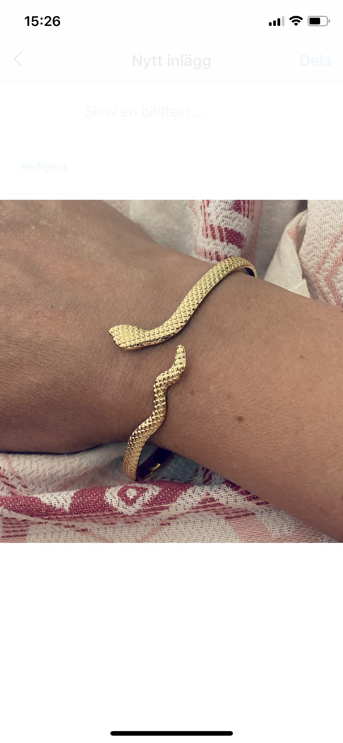 Train of trend armband orm gold