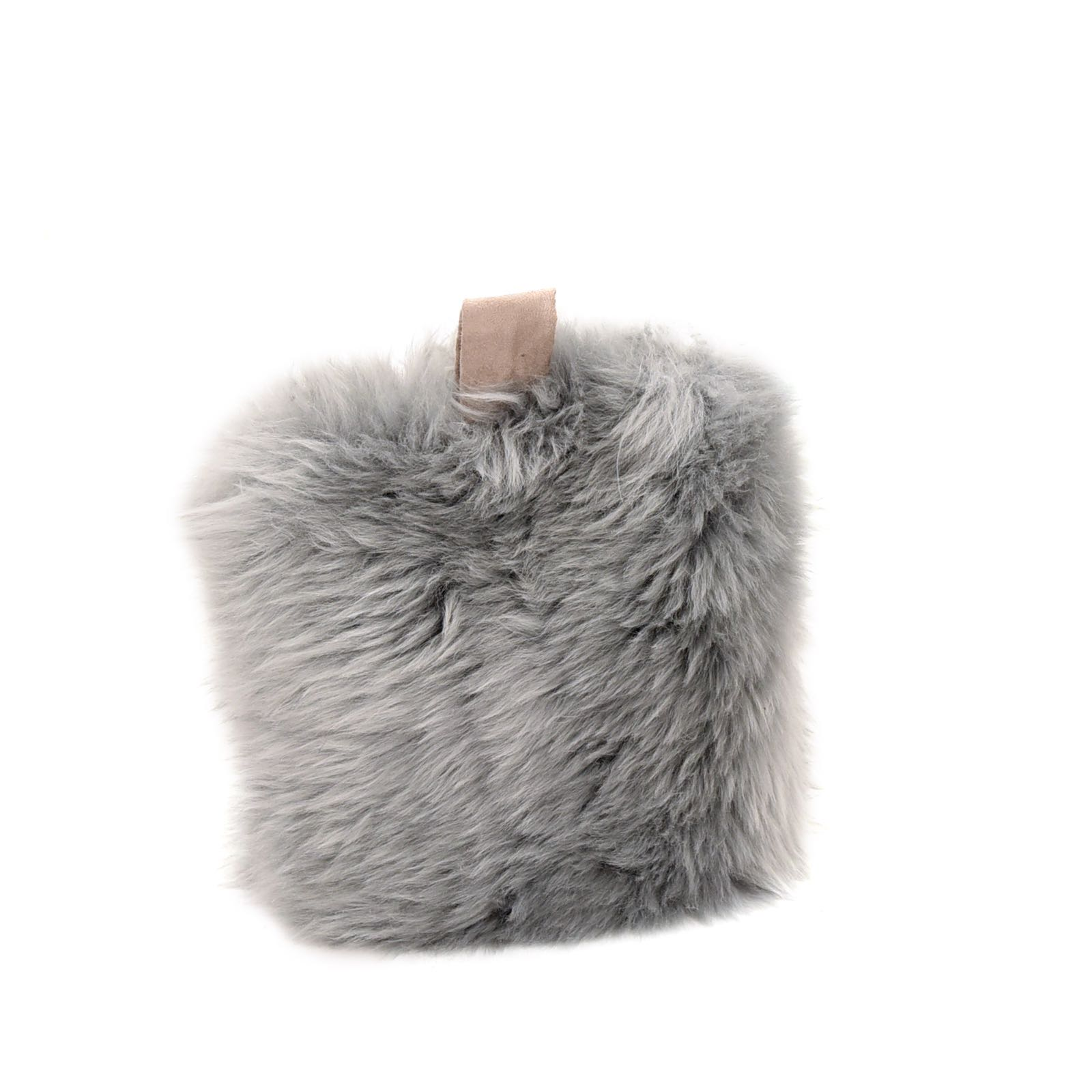 Baa Stool flock stop in silver sheepskin 25cm x 30cm