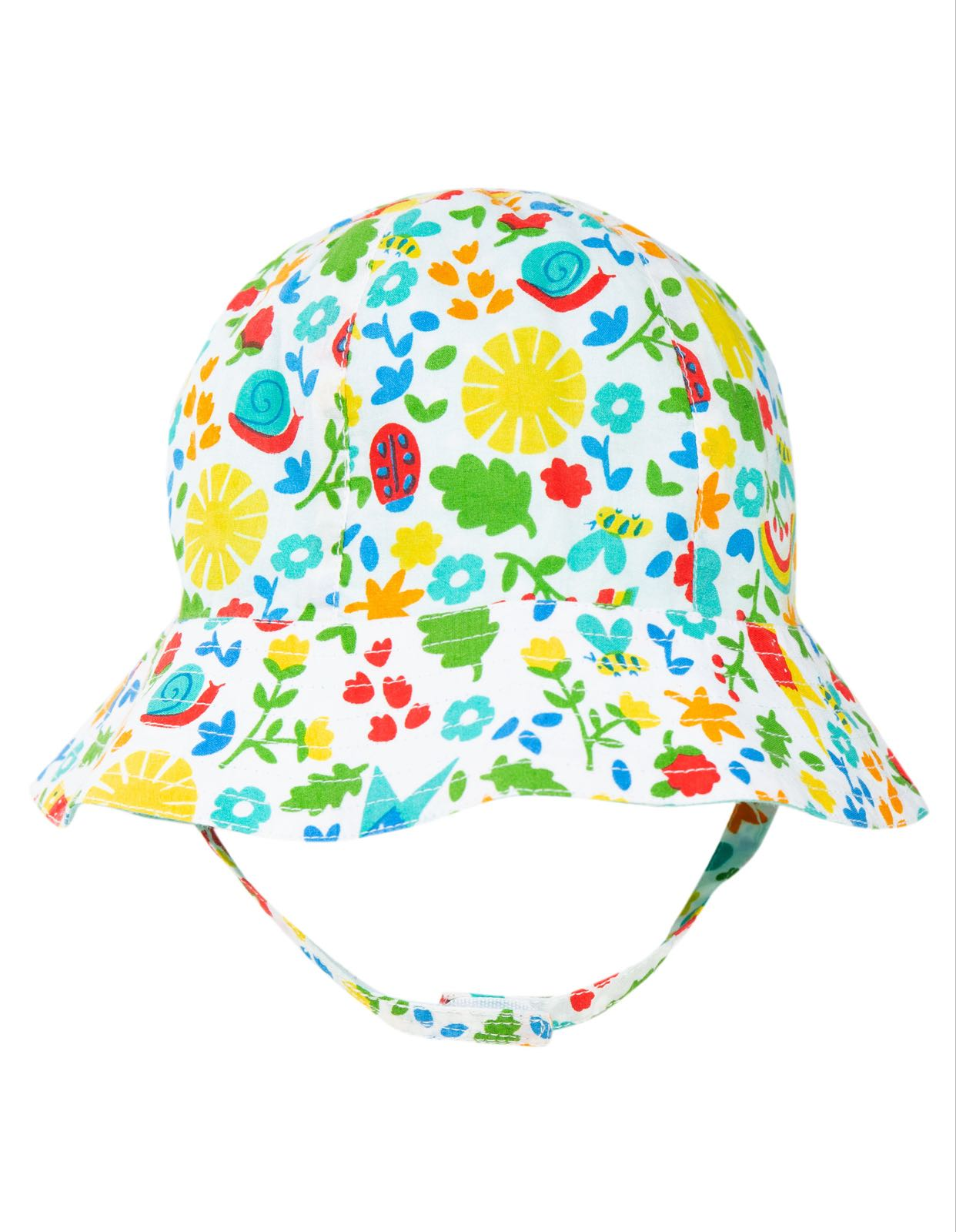 Frugi Reversible Ditsy Hat, Allotment Days