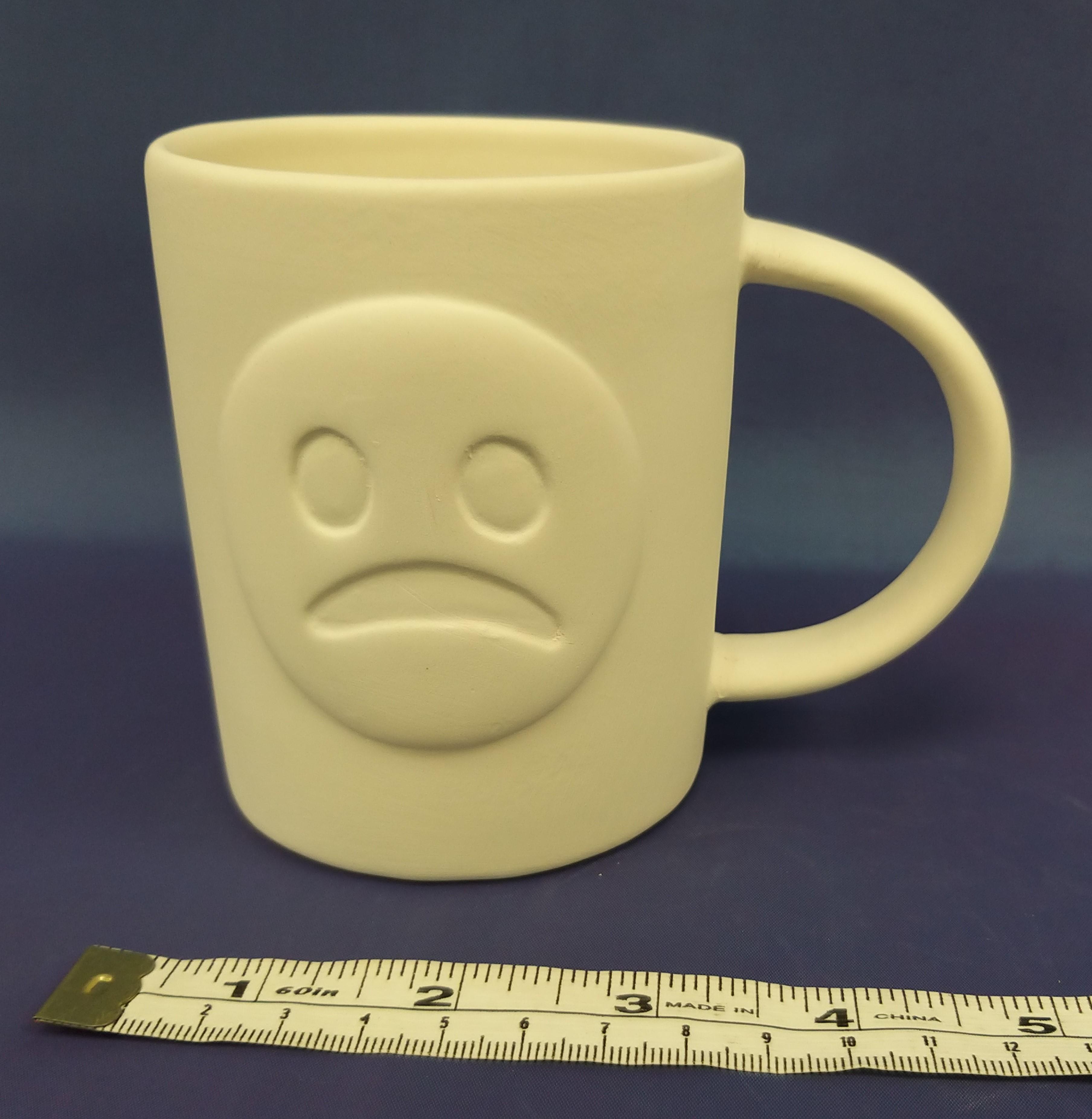 Emoji Happy and Sad Face Mug