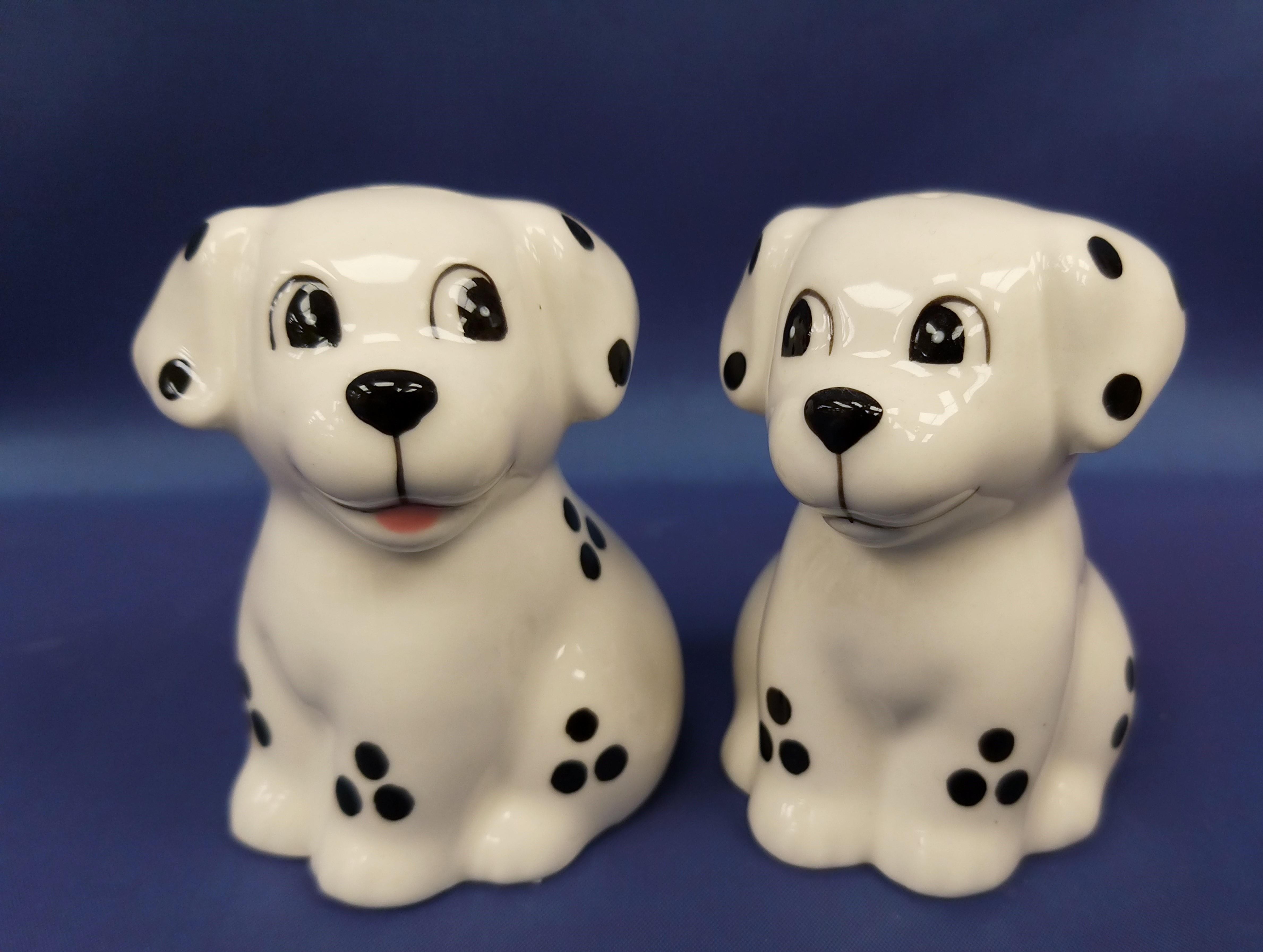 Ceramic Dalmatian Dog 'Salt and Pepper' Shakers