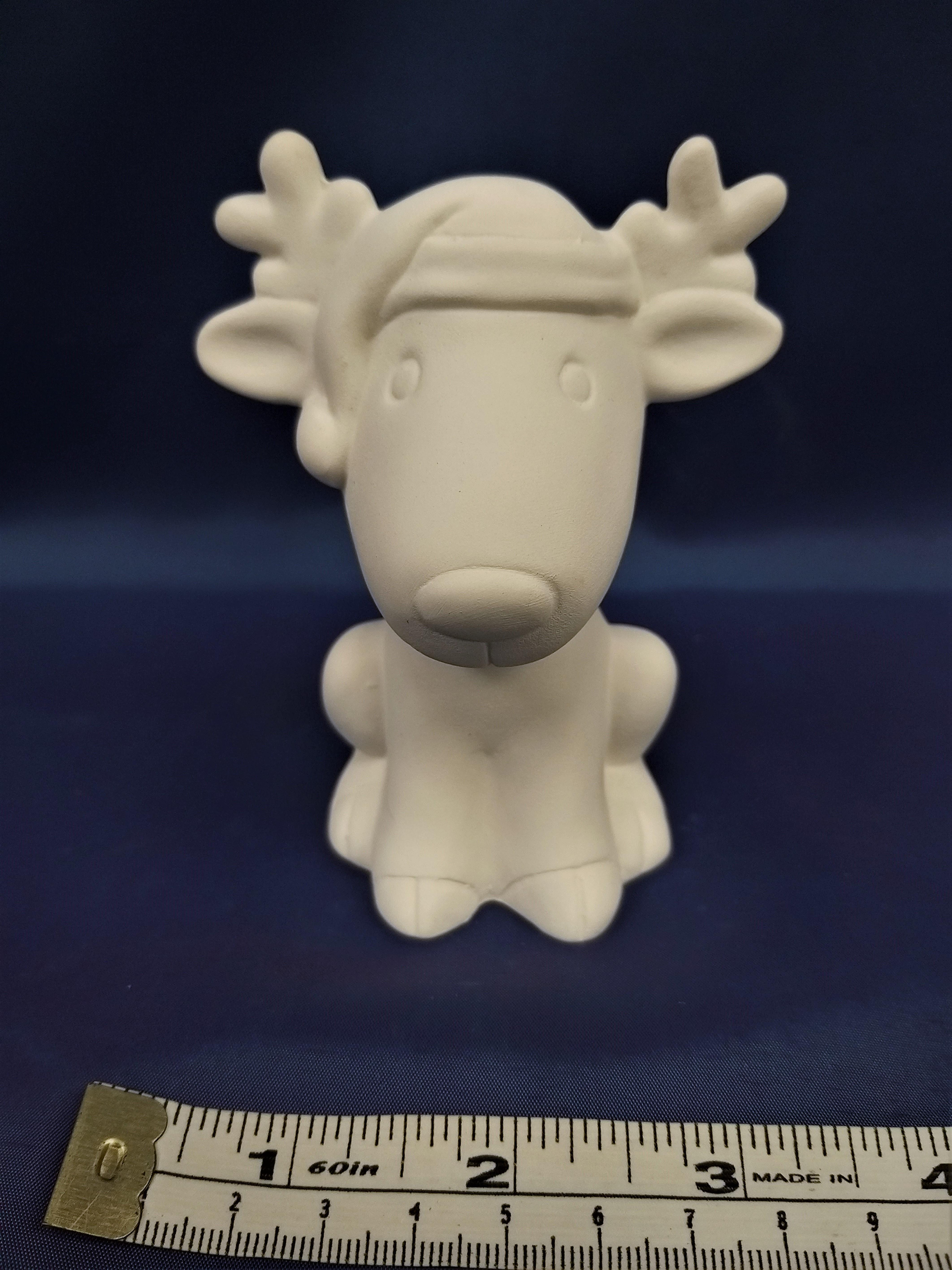 Cute Reindeer Wearing Hat