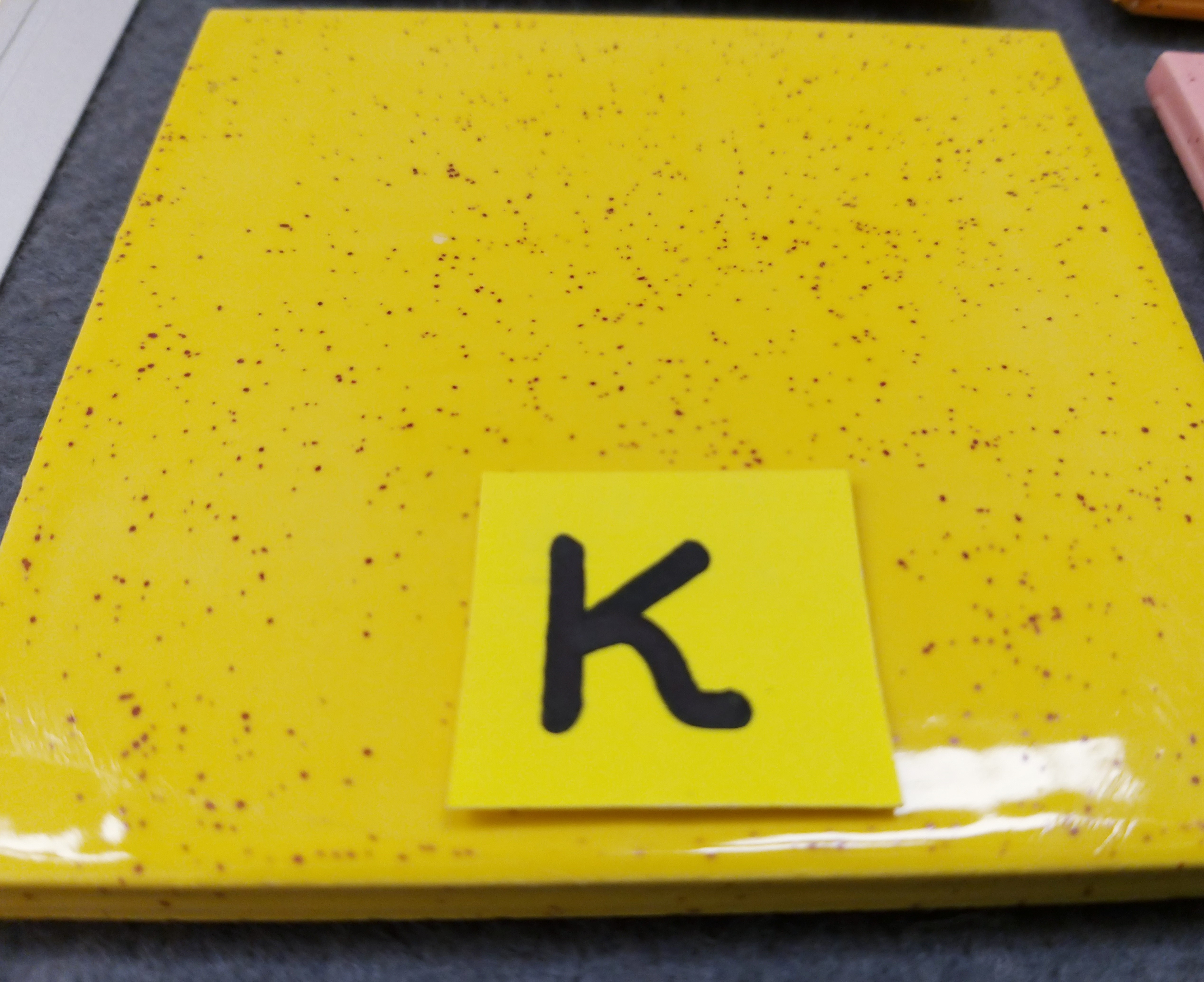 K. Bright Yellow (#28) with speckles