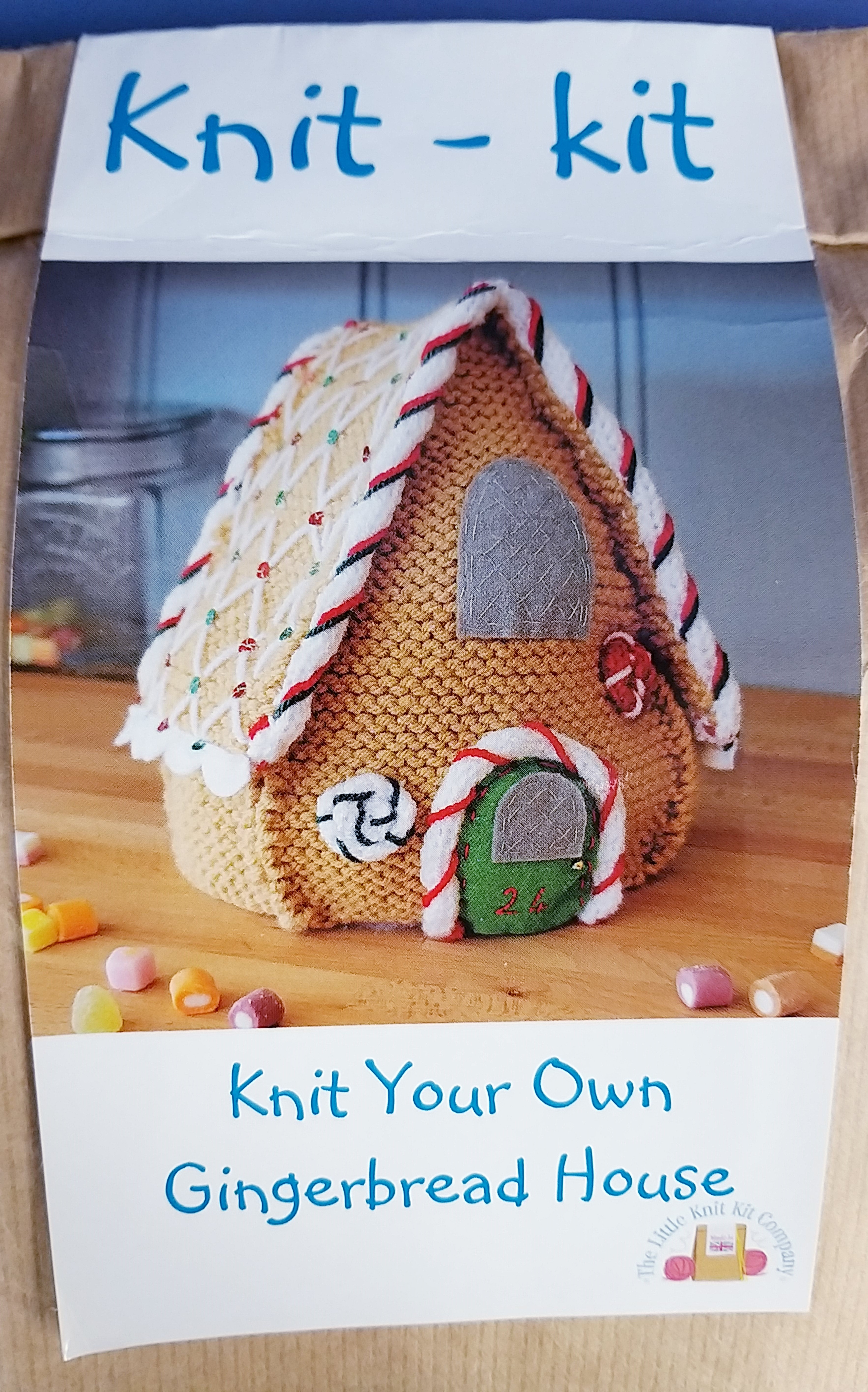 Gingerbread House Knit Kit