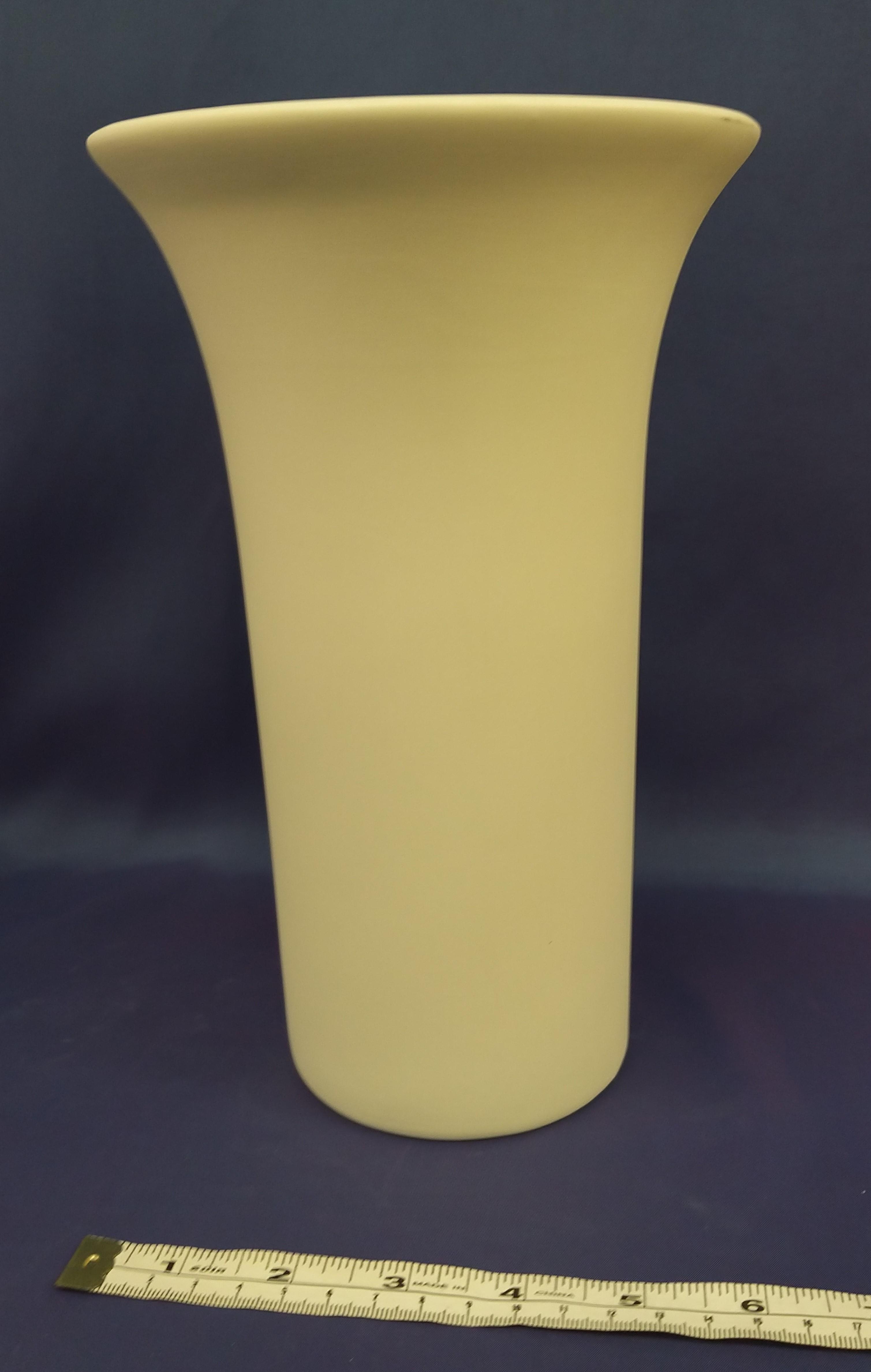 Large Vase with Trumpet Top (Clear glaze inside)