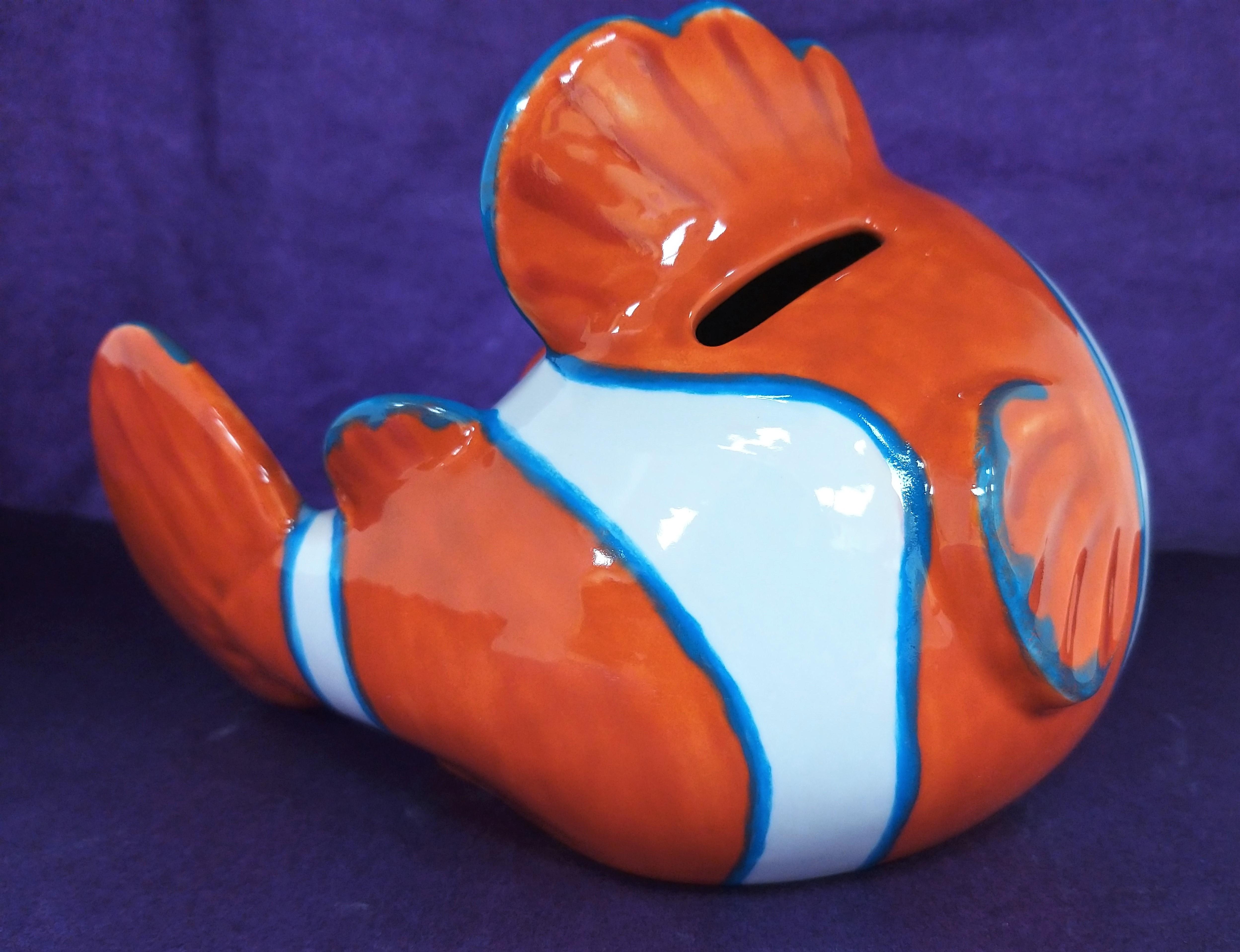 Large Clown Fish Money Bank