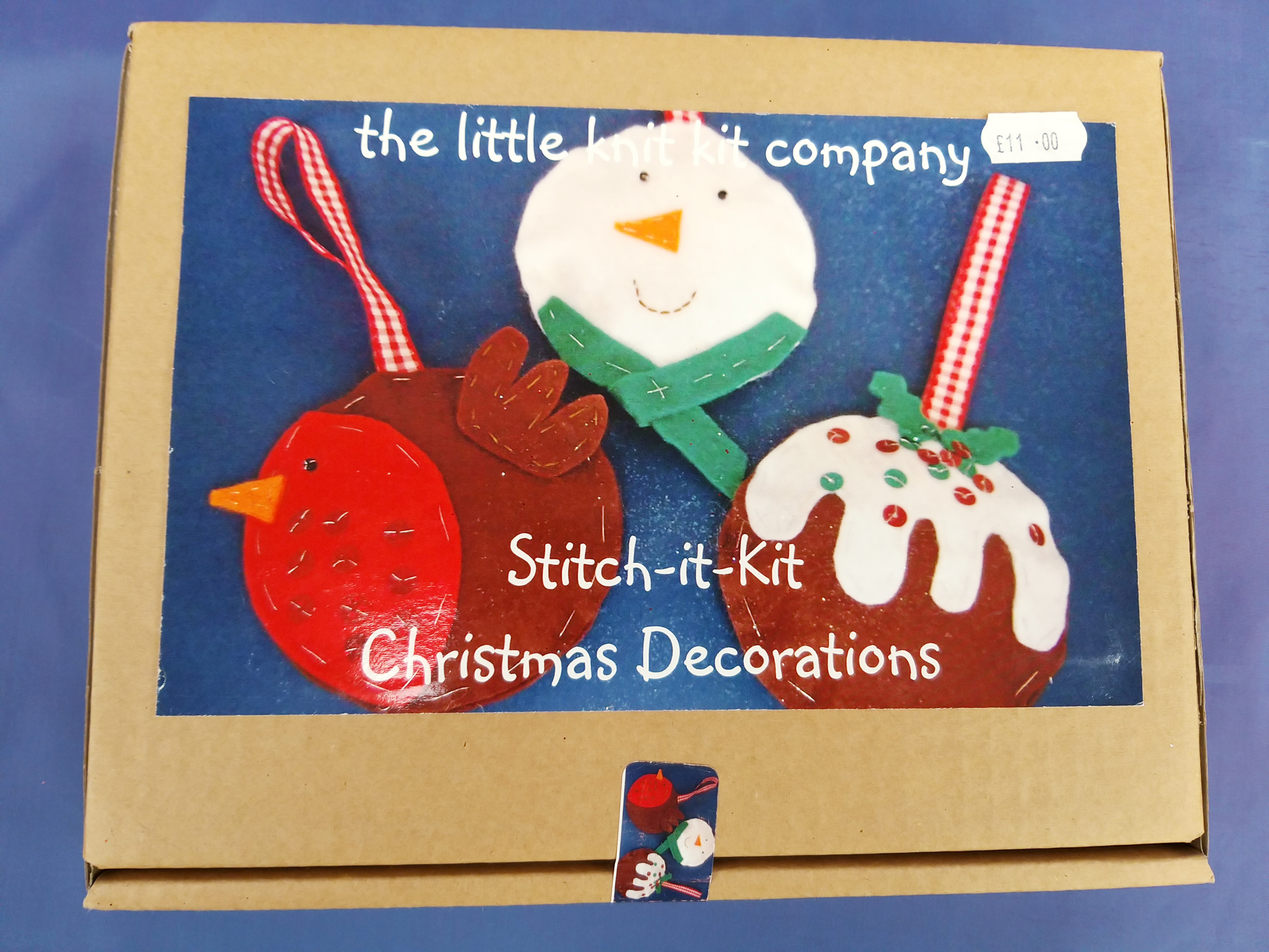Stitch your own Christmas decorations