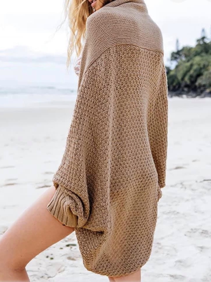Trendy  oversize knitted cardigan