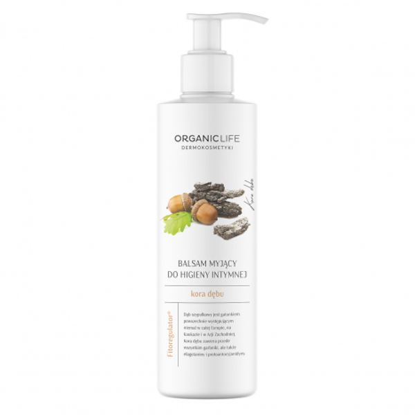 Cleansing lotion for intimate hygiene with oak bark extract