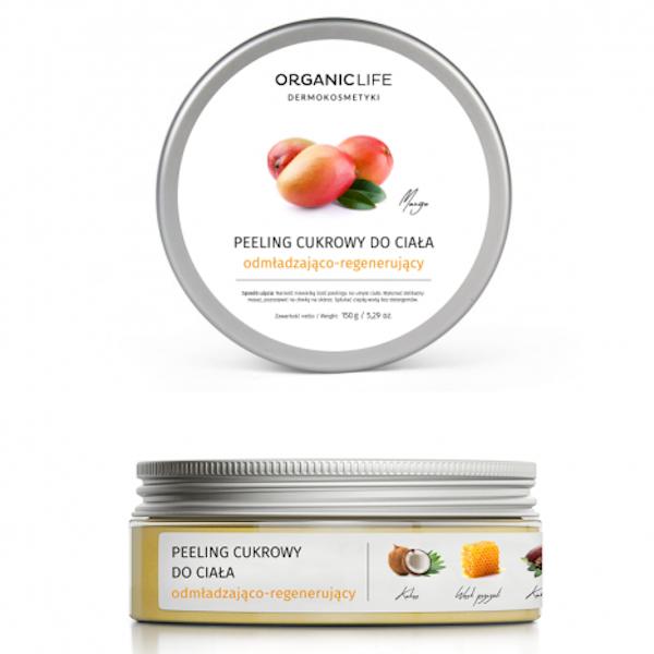 Rejuvenating and regenerating sugar body peeling