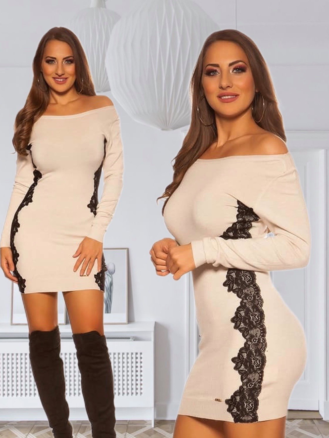 Minidress with embroidery