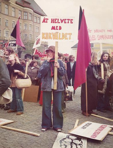 Demonstration För lika rättigheter. Malmö 1970