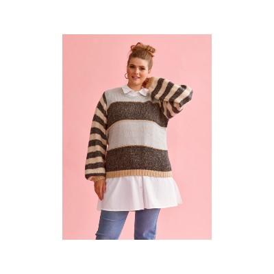 Pave strik bluse fra Zhenzi 2101404