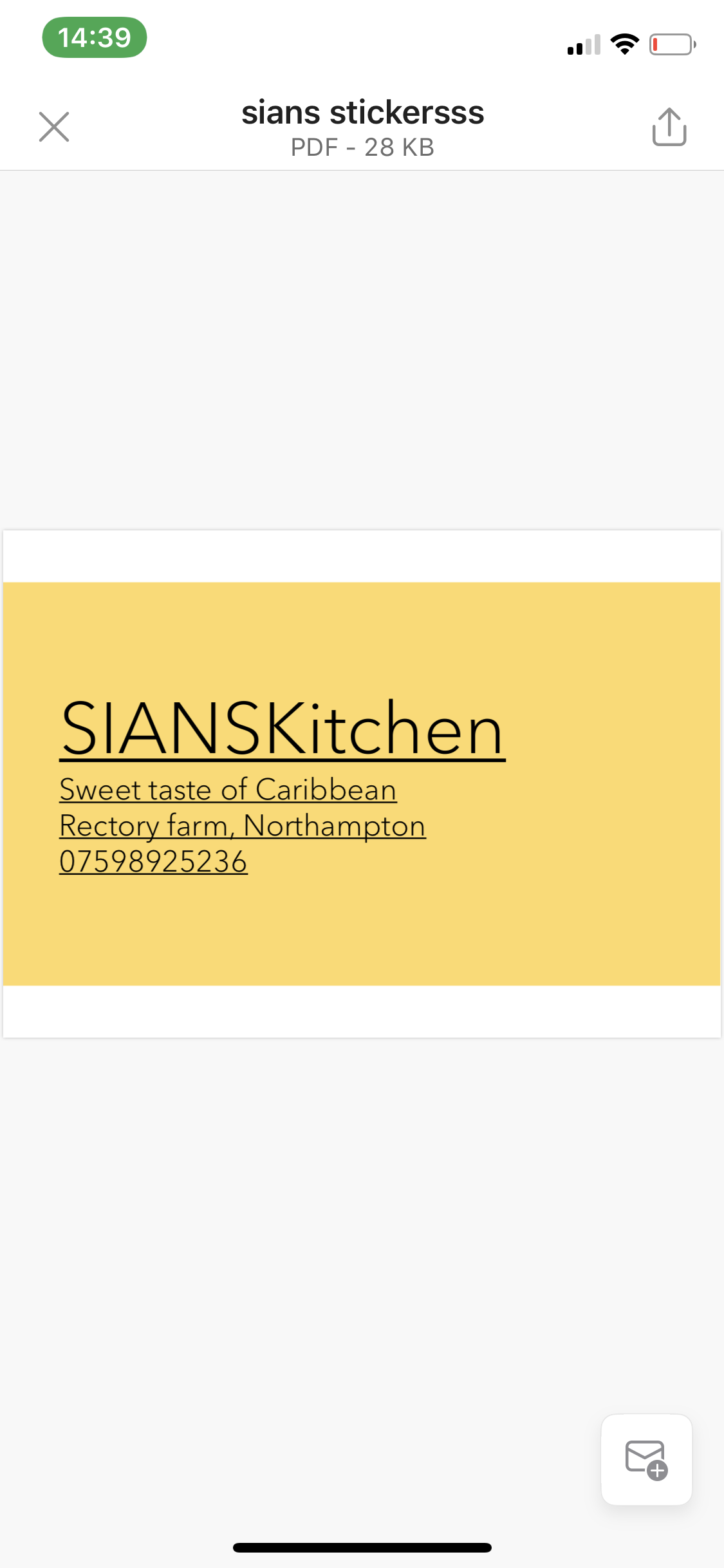SIAN'S KITCHEN LIMITED