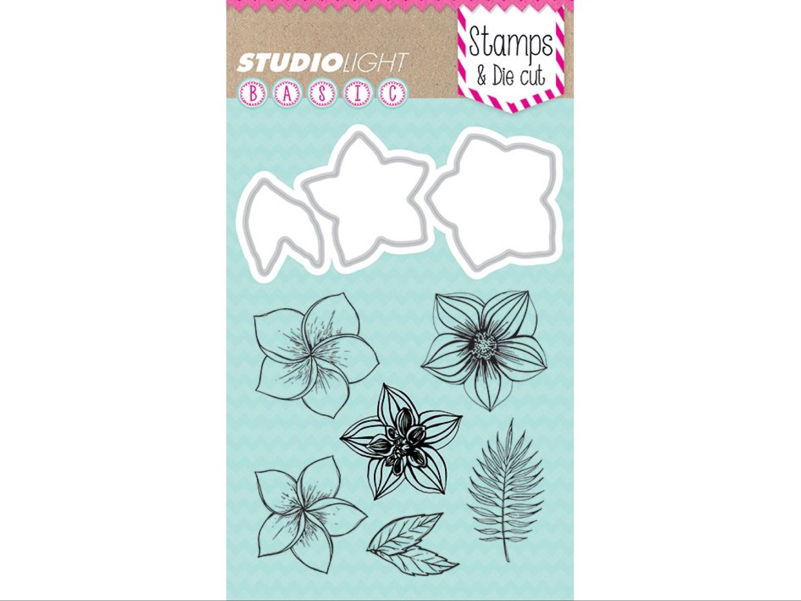 StudioLight basics stamp & die cut A6 nr.10. Stempel og dies-sett.