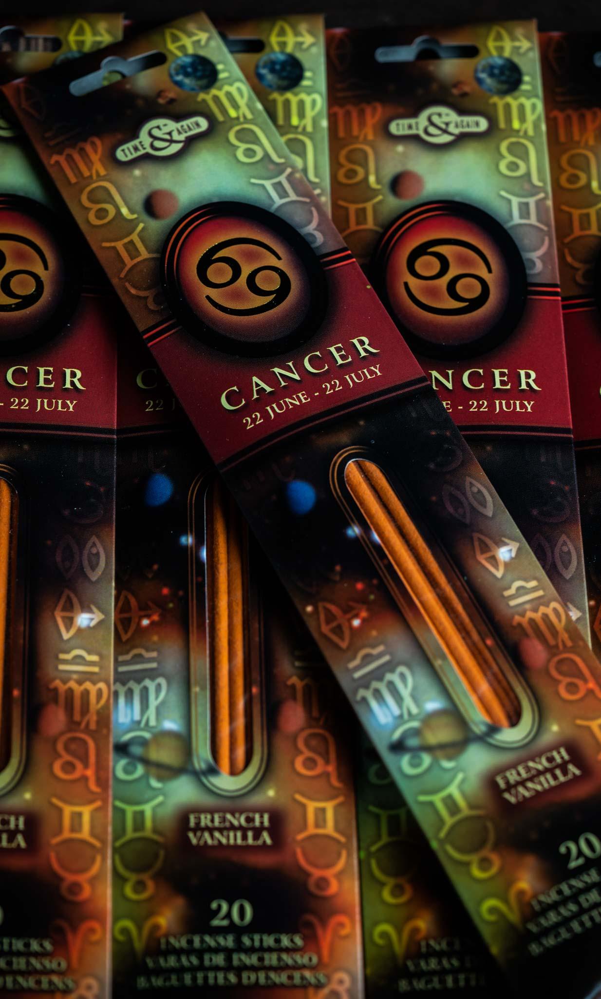 Zodiac Incense Sticks Cancer - French Vanilla