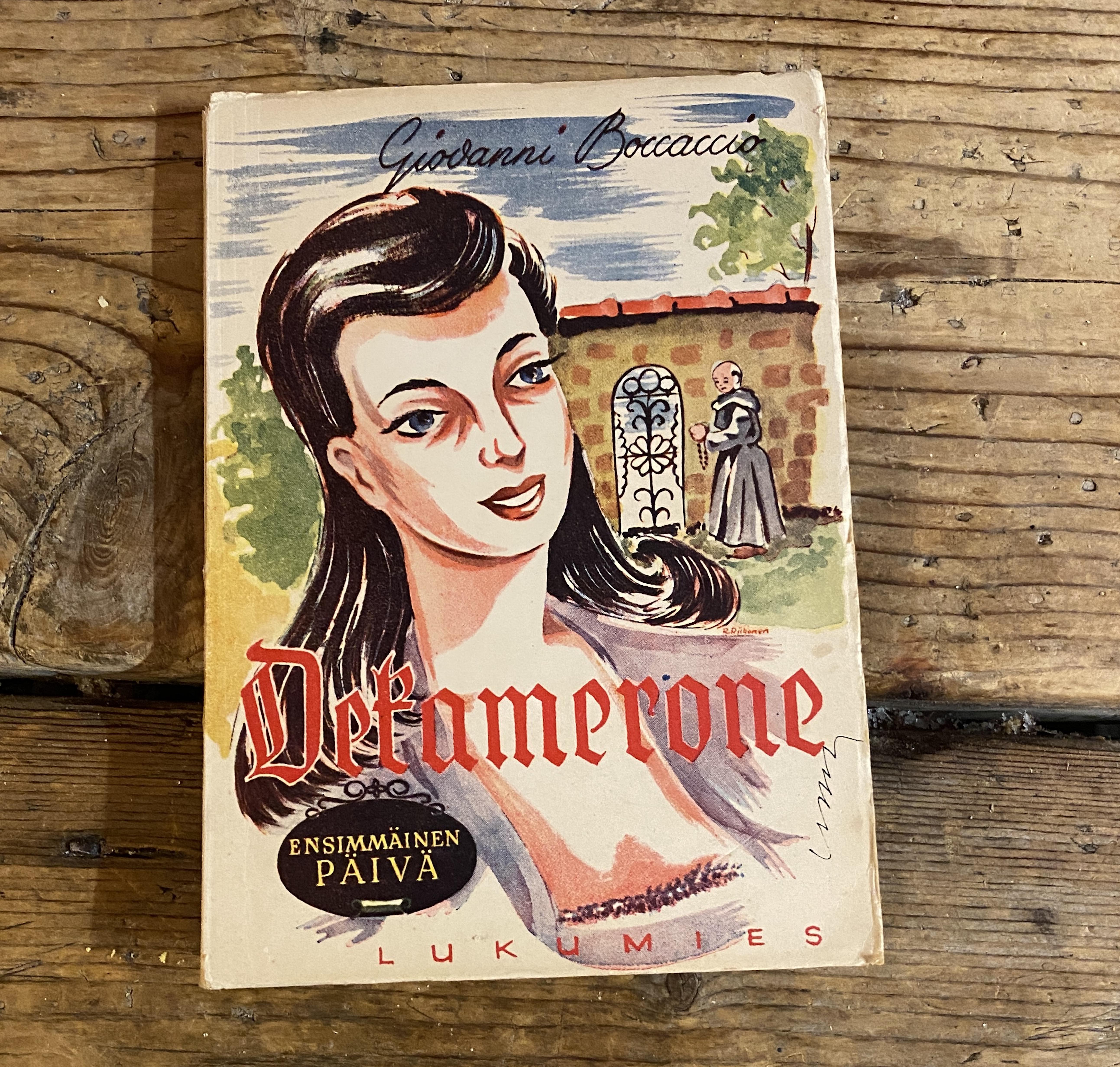 Decamerone - ensimmäinen päivä - Boccaccio Giovanni kirja (2nd hand)