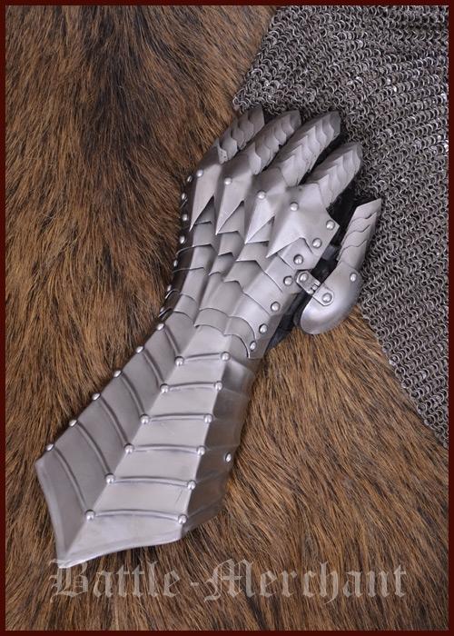 Vasemman käden haarniska käsine saranoitu