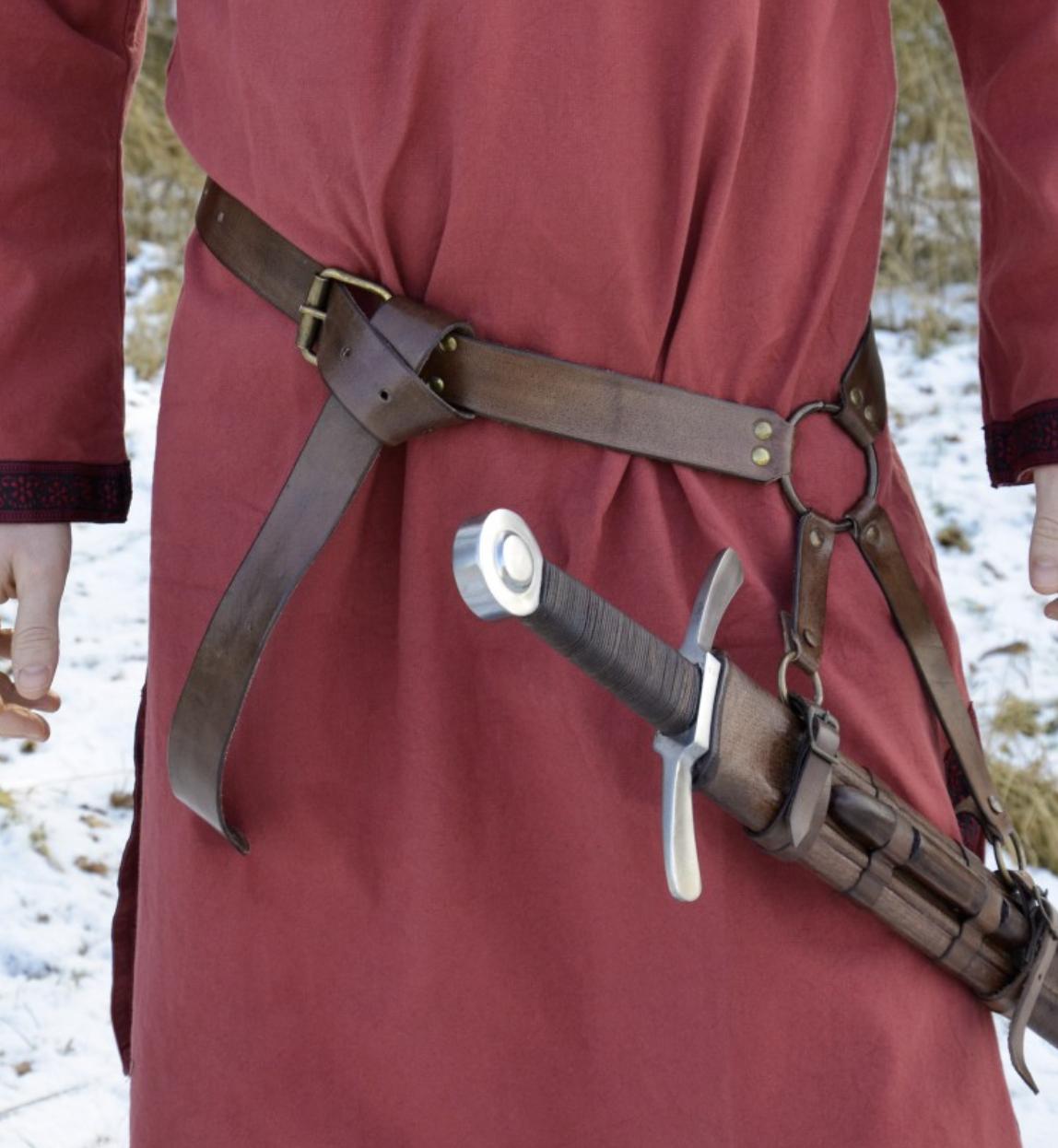 Vyö miekan kantamiseen Baldric, nahkaa