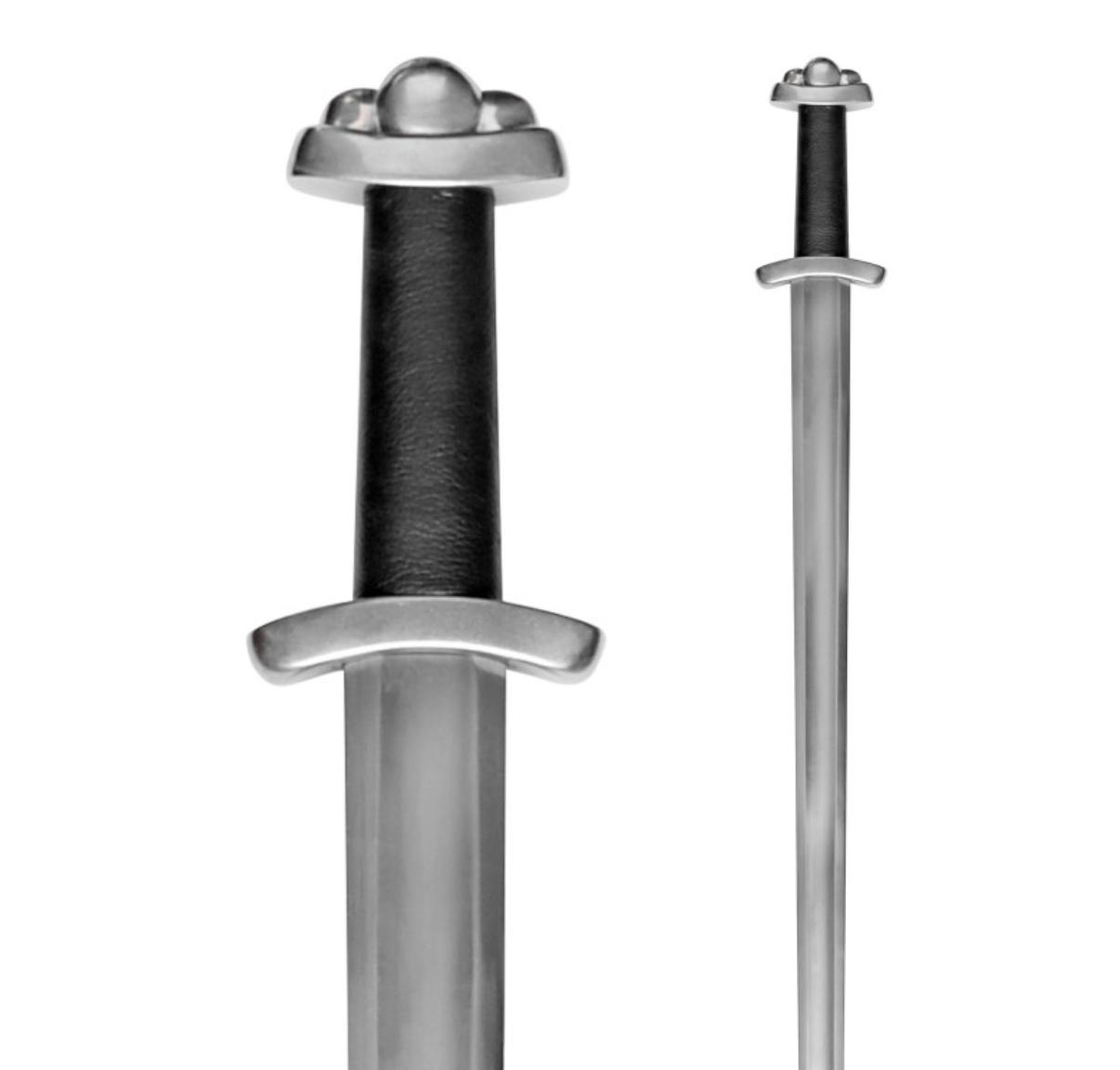 Viikinkimiekka kolmilohkoinen, tylppä SK-B, huotralla