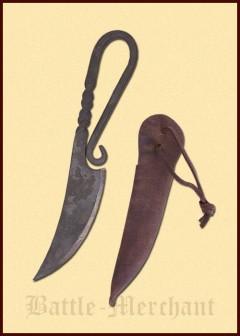 Keskiaikainen veitsi nahkatupella