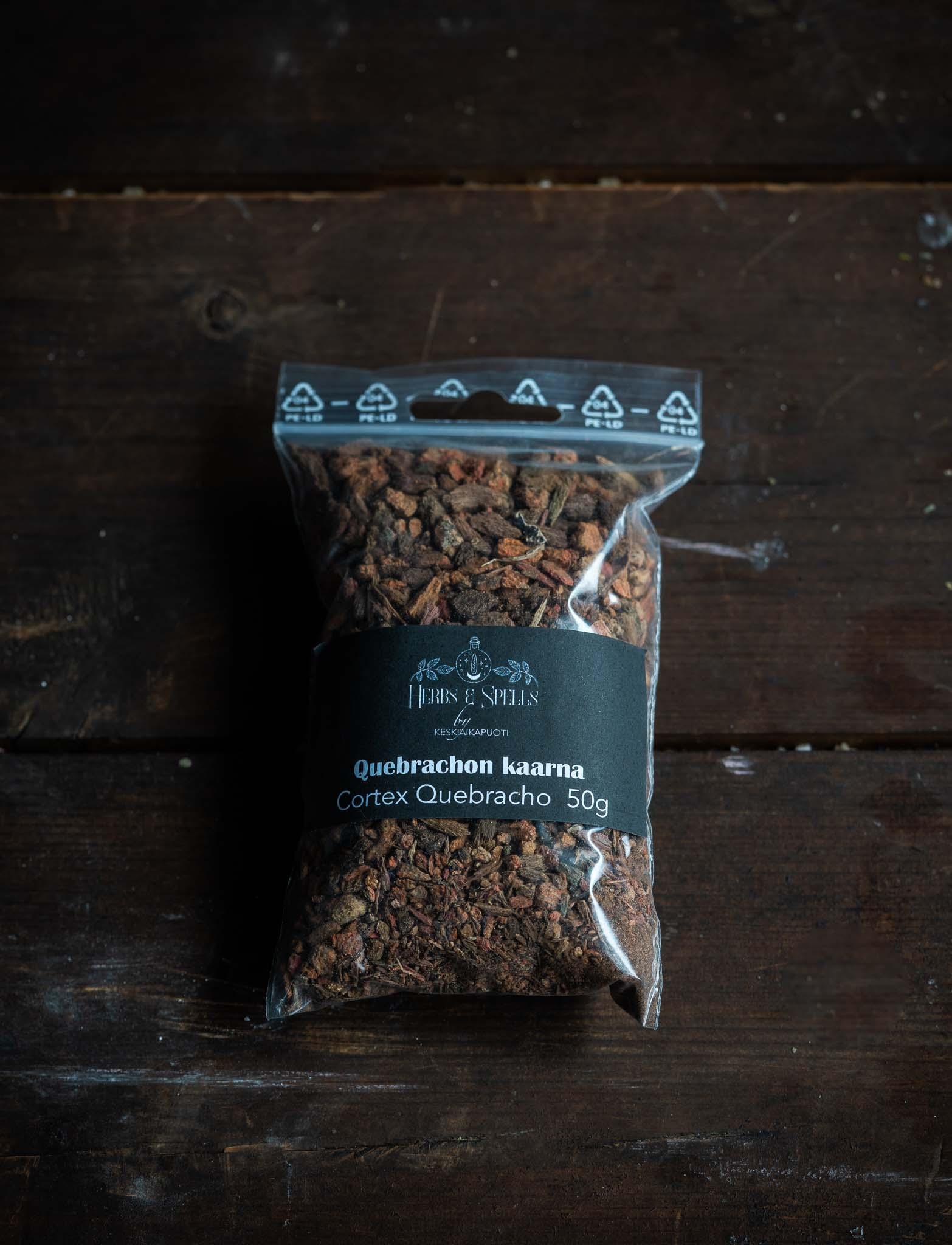 Quebrachon kaarnaa - Cortex Quebracho 50g (Herbs&Spell by keskiaikapuoti)