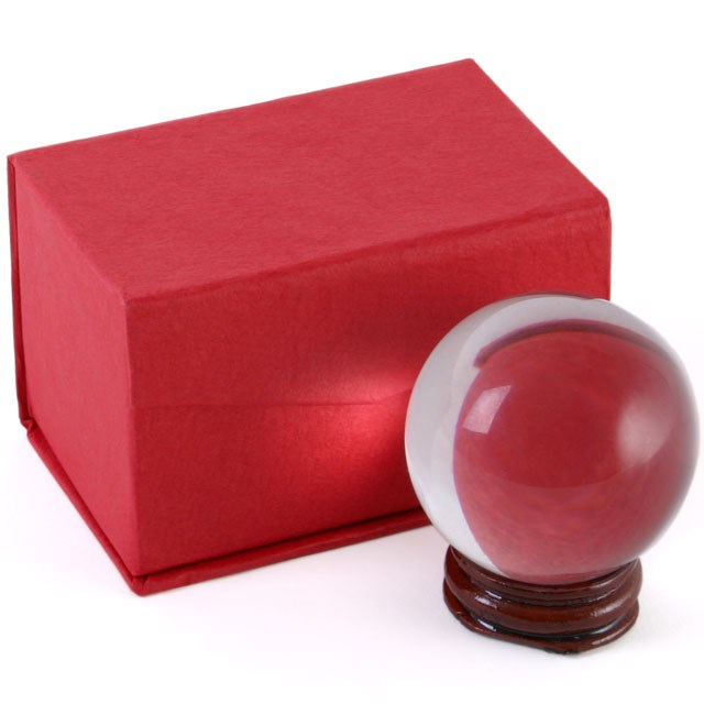 Pieni kristallipallo jalustalla 5cm