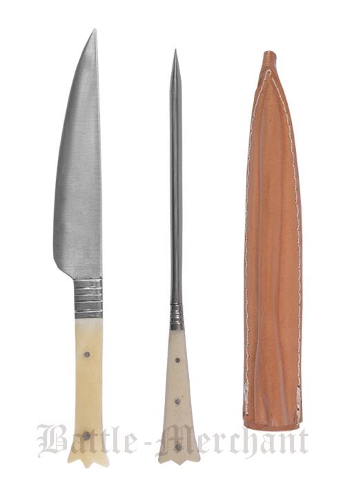 Aterimet syömäpiikillä, luukahva pituus 23cm